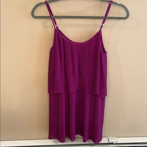 Parker Purple Spaghetti Strap Dress Size Small